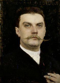 Portrait of Albert Edelfelt. 1887. Oil on wood. 21x15cm. Dagnan Bouveret