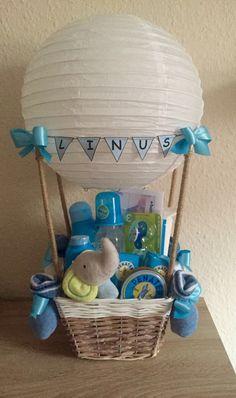 Geschenk zur Geburt Heißluftballon