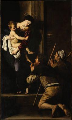 Madonna of Loreto, Michelangelo Merisi da Caravaggio, SantAgostino Church, Rome