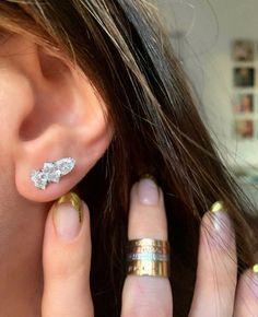 Diamond Ones Chrysalis Earrings - K Kane Jewelry - K Kane Hexagon Shape, Diamond Earrings, Jewelry Making, Jewels, Color, Beautiful, Diamond Studs, Colour, Jewelery