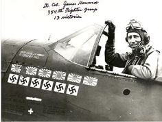 LTC James Howard, 354th Fighter Group, WWII - James Howell Howard (April 13, 1913 – March 18, 1995) was a general in the United States Air Force and the only fighter pilot in the European Theater of Operations in World War II to receive the Medal of Honor. He also served as a USN Aviator on the Enterprise (CV-6), 1939-41 and as a member of the 'Flying Tigers' (1941-42) where he flew 56 missions and is credited with 6 victories - making him an ACE in both the Pacific and European Theaters.