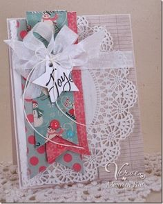 Holiday card by Maureen Plut using Glad Tidings from Verve.  #vervestamps