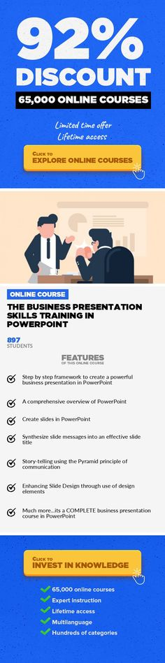 The Business Presentation Skills Training in PowerPoint Communications, Business #onlinecourses #lifeskills #onlinetrainingeducationLearn to CREATE a complete client ready PowerPoint presentation especially designed for banking and consulting jobs! Welcome to our latest course Business Presentation Skills Training (BPST) with PowerPoint online course. We are glad to meet you. If only we could sh...