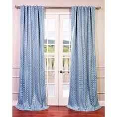 Fret Sky Blue/ Teal Blackout Curtain Panel - Overstock Shopping - Great Deals on EFF Curtains