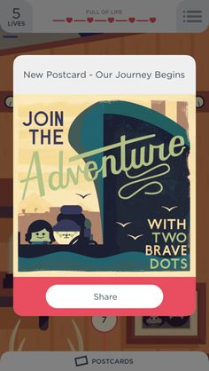 Two Dots iPhone popovers, illustration screenshot