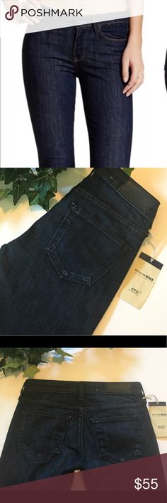Big Star Cropped skinny These Big Star are gorgeous! They feature a beautiful dark wash, 7 inch med rise and a 26 inch cropped skinny inseam. NWT's Big Star Jeans Skinny