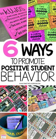 Promoting positive student behavior is important in the classroom. Here are a few ideas to reward students when they are doing positive things. | Tame the Classroom