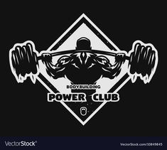 Bodybuilder with a barbell emblem Royalty Free Vector Image , Soccer Logo, Sports Logo, Flight Logo, Shark Logo, Logo Desing, Gym Interior, Owl Logo, Horse Logo, Eagle Logo