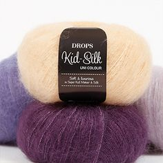 A luxurious, light brushed yarn in an exclusive mix of mohair super kid and mulberry silk, DROPS Kid-Silk is feather light, and will give garments a. Drops Cotton Light, Drops Kid Silk, Drops Baby, Drops Design, Drops Lima, Laine Drops, Drops Karisma, Drops Alpaca, Knitting Patterns