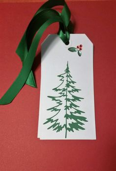 Christmas Tree Gift Tags-Set of 4 by EasyLifeInspirations on Etsy
