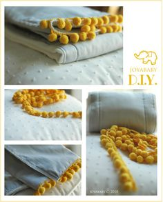 a simple sewing project: an embellished burp cloth for baby