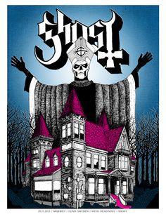 Image of Ghost BC - Lund, Sweden - http://robertwegnerillustration.bigcartel.com/product/ghost-lund-sweden