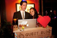 Love this idea: Ask guests to record their well wishes with a webcam!