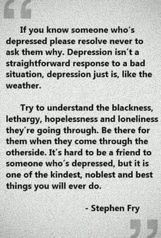 quotes about depression | This quote by Stephen fry is remarkably on-target