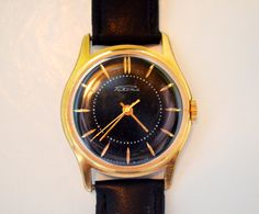 Men's Watch Vintage Collectible USSR Gold-plated RAKETA 1960s by bestLuba on Etsy