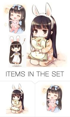 """Anime Girl"" by grandmasfood ❤ liked on Polyvore featuring art"