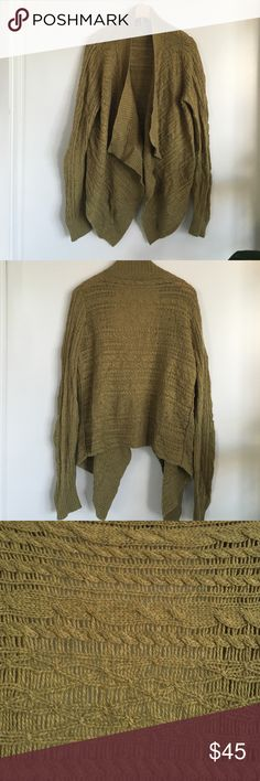 Sage green shrug Great for fall.  Like new Banana Republic Sweaters Shrugs & Ponchos
