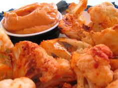 Home Skillet - Cooking Blog: Roasted Cauliflower Dippers with Smoked Paprika Aioli