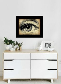 Vintage Eye Art Print  Wall Art  Home Decor  by TheParisMasquerade, $10.00