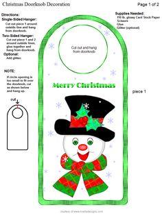 Door Knobs, Elves, Card Stock, Hanger, Cards, Christmas, Decor, Xmas, Door Handles