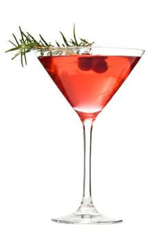 Holiday martini - berries and cake vodka