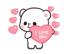 LINE Creators' Stickers - Milk & Mocha : Playful (Animated) Example with GIF Animation Cute Couple Cartoon, Cute Love Cartoons, Cute Cartoon, Love You Gif, Cute Love Gif, Calin Gif, Bisous Gif, Gif Lindos, Cute Bear Drawings