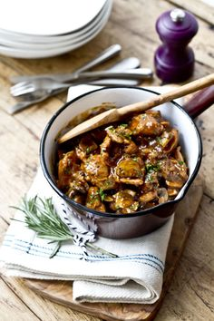 Chicken Marsala and Mushroom Stew