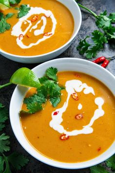 Thai Pumpkin Soup... I will try this (without the sugar!)