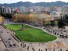 Skanderbeg Square in Tirana the Capital of Albania