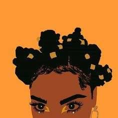 black woman, african art, and bantu knots image