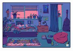 bedroom drawing aesthetic fantasy anime scenery concept dope dream paper scene uploaded