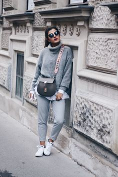 Grey Tone on Tone Look   Layering Outfit   Fashionnes   Instagram @fashionnes_blog