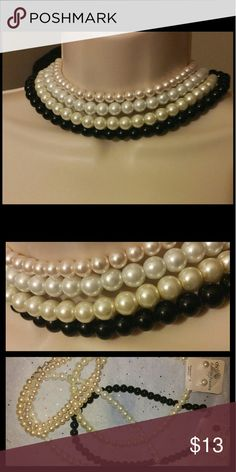 4pcs Pearl Necklace Bundle Choker Style Classic 4 pearl necklaces White, cream, n black colored 16-18in long Classic glamour  💯Brand new High quality💯 💯What u see is what u get💯 ➕10% off 2 or more➕ ❤Please check out my closet❤ ⛔All prices have Been reduced⛔ ✔Buy with confidence ⭐⭐⭐⭐⭐ Top Rated Seller ⚡next day shipping I'm raising money for my family every like share n purchase is greatly Appreciated. Jewelry Necklaces