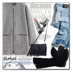 """Casual Look !"" by emapolyvore ❤ liked on Polyvore featuring R13, Burberry, denim, romwe, casualoutfit and coat"