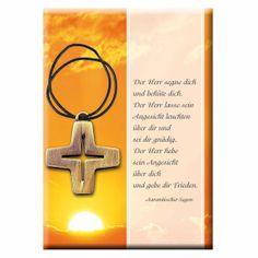 #Kreuz aus Bronze zur #Kommunion mit #Kommunionkarte - Ein geeignetes #Geschenk zur #Erstkommunion …