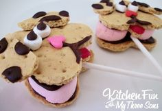 Pupp Love Smore's Pops....a fun food idea for kids from KitchenFunWithMy3Sons.com