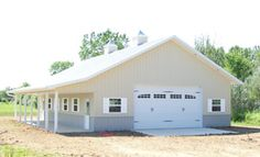 36' x 48' w/ 8' porch & greenhouse. Troy Built Buildings - Custom Built Pole Barns and Metal Buildings in Findlay Ohio