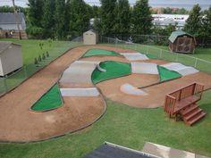 backyard pump track layout - Google Search   Bikes ...
