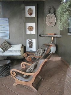 Modern take on African decor African Interior Design, African Design, Home Living, Living Room, Small Living, Ethno Design, African Furniture, Global Decor, African Home Decor