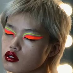 "290 Likes, 5 Comments - Lucy Bridge (@lucyjbridge) on Instagram: ""Neon Baby!! Todays makeup look on @yukibeniya using @marcjacobsbeauty GLOW STICK to highlight!…"""