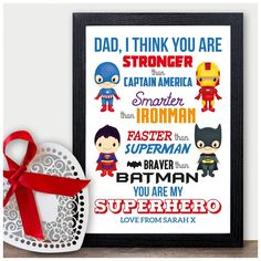 Gifts for Dad, Stronger than, superhero gift, batman, best Daddy gift, Super Daddy, Fathers day, dads birthday You Are My Superhero, Superhero Gifts, Xmas Presents, Unique Presents, Daddy Gifts, Gifts For Dad, Father Christmas, Dad Birthday, Boutique Shop
