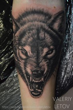 wolf tattoo by ValeriyLetov
