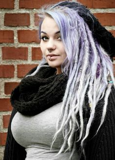 Lilac dreads...I wish!