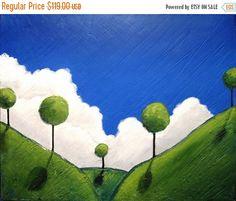 """fine art painting wall canvas art landscape original textured sculpture """"Eden 3""""…"""