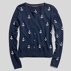 anchor cardigan @Whitney Clark Mac I'm pinning you because Ashleigh's name wasn't an option.  She needs this.