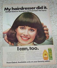 1976 ad page - Clairol beauty salon hair products CUTE GIRL vintage print ADVERT  | eBay