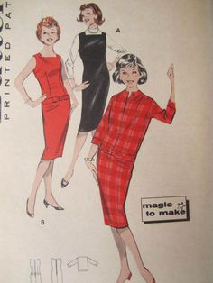 See Sally Sew-Patterns For Less - Chemise Jumper Teen's Vintage Butterick 8671 Sewing Pattern Sz. 14, $8.99 (http://stores.seesallysew.com/chemise-jumper-teens-vintage-butterick-8671-sewing-pattern-sz-14/)