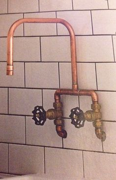 Copper tap made by a plumber - interesting!