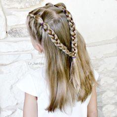 Combo braids (bubble and three strand) for Day 23 of #30daysnewbraids challenge. . . . #30DNBday23 #hairinspiration #hairstylesforgirls #hairstylesforlittlegirls #littlegirlhair #littlegirlhairideas #littlegirlhairstyles #braidsforgirls #braidsforlittlegirls #bubblebraids