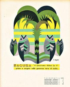 Fortunato Depero, Province Italiane, Ragusa, 1938
